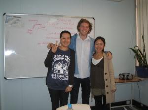 Mia, Naoko and I