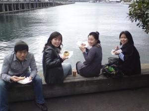 Ram, Yoon Mi, Jessica and Jiny at Harry's